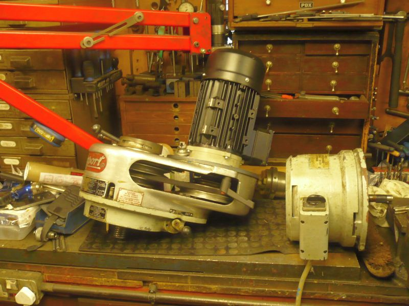 converting a bridgeport from 3 phase to single model engineer the motor on the right is the original one that needs to go back to the guy who me the step head